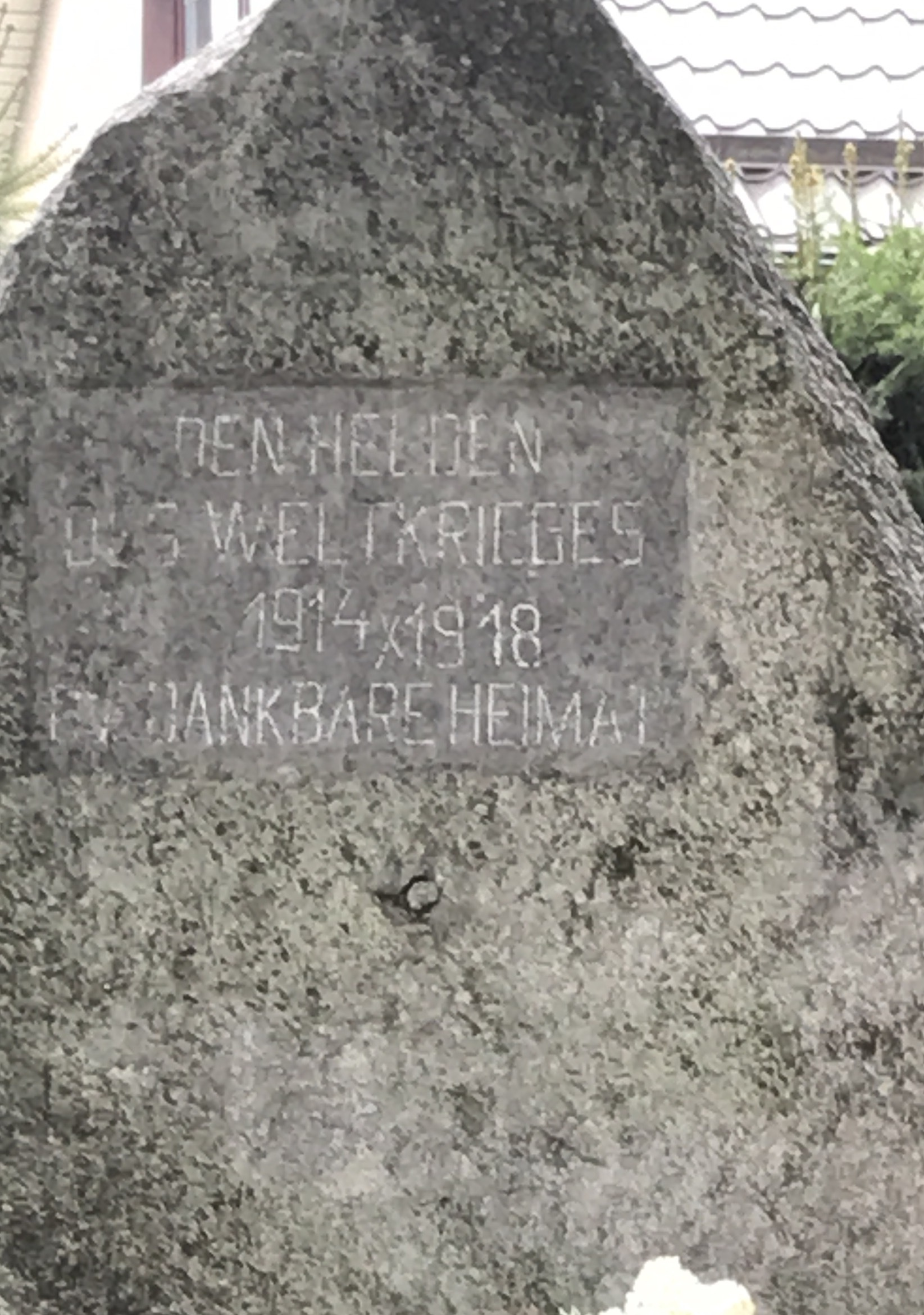 Mierki - kamień pamięci poległych w I Wojnie Światowej